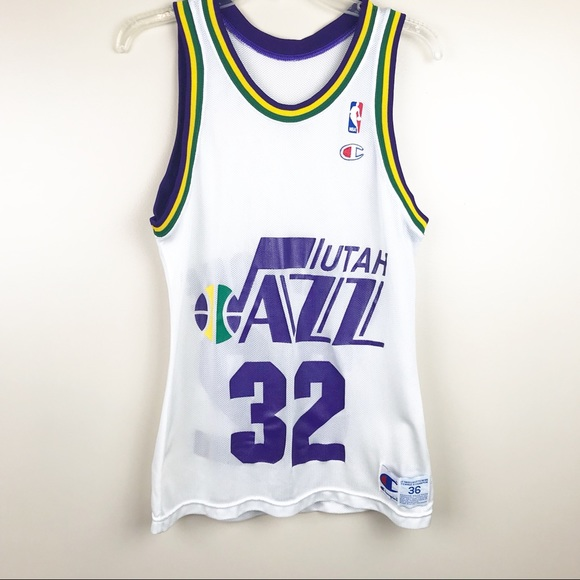 factory authentic c8689 d6bdf Vintage Champion Utah Jazz #32 K.Malone NBA Jersey